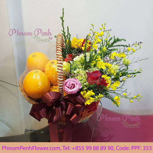 Orange with flower basket – PPF-353