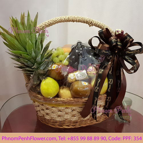 PPF-354 Seasonal Flowers & fruits basket