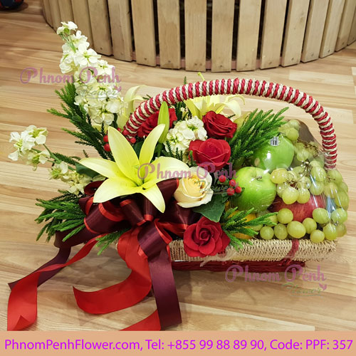 fresh flowers & Fruit basket – PPF-357