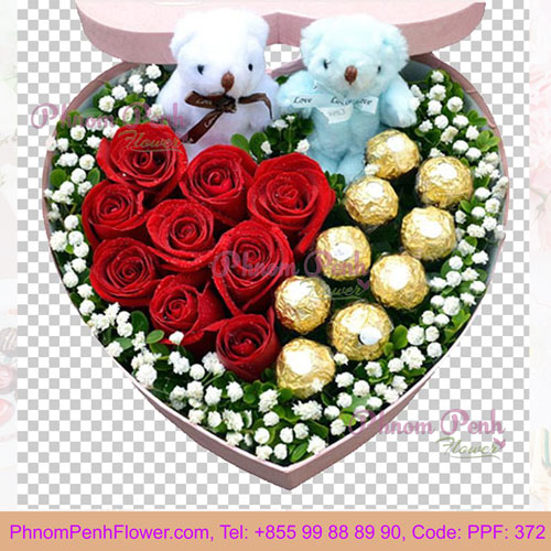 PPF-372 Sweet Couple flower box