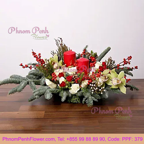 PPF-379 Splendid Christmas Flower Arrangement