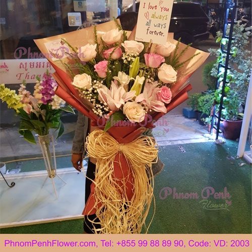 Bouquet of Mixed rose & Lily– VD - 2003
