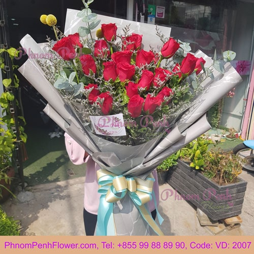 Two Dozen Red Roses Bouquet – VD - 2007