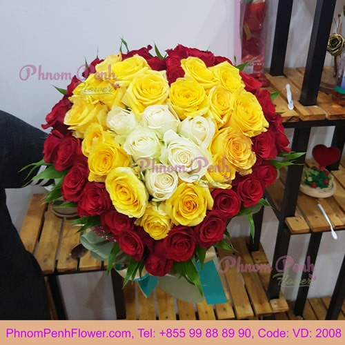 Heart Roses bouquet – VD - 2008