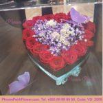 Preserve red roses in box - VD - 2009