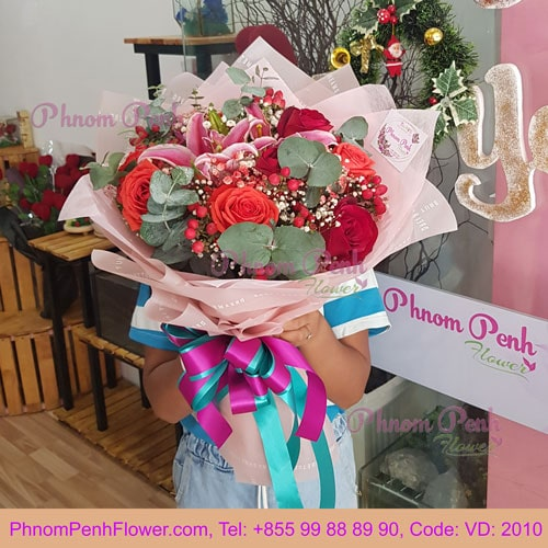 Bouquet of Mixed Lily & Rose – VD - 2010