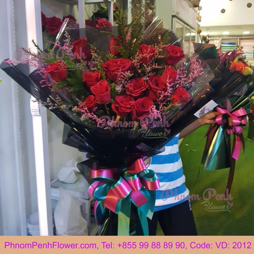 Bouquet of 18 Red Roses - VD - 2012