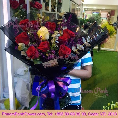 9 Premium roses bouquet – VD - 2013