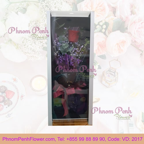 Single Preserved rose in box - VD - 2017