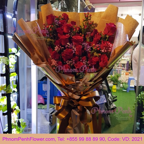 Bouquet of 36 Red Roses – VD - 2021