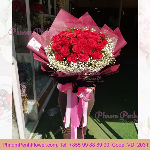 Bouquet of 36 Red Rose – VD - 2031