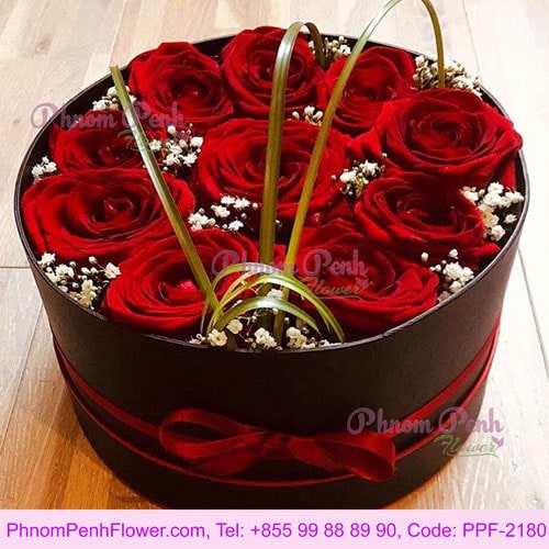 12 Red Rose in Box - PPF-2180