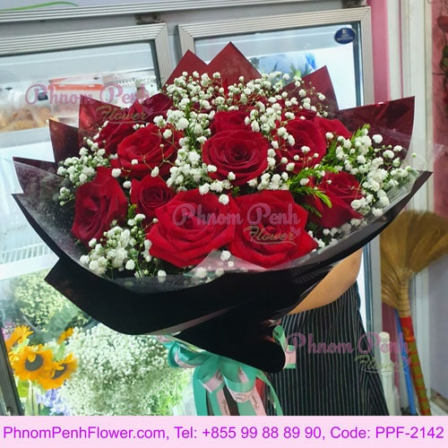 24 Enchanting Red Roses Bouquet – PPF-2142