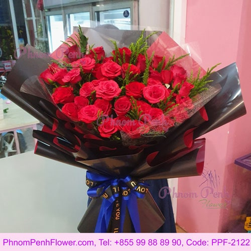 36 Red Rose Bouquet with Love – PPF-2122