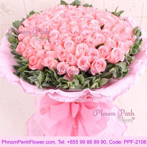 99 Pink Roses bouquet – PPF-2106