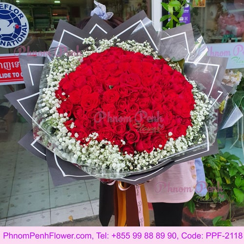 99 Stalks Rose Hand Bouquet - PPF-2118