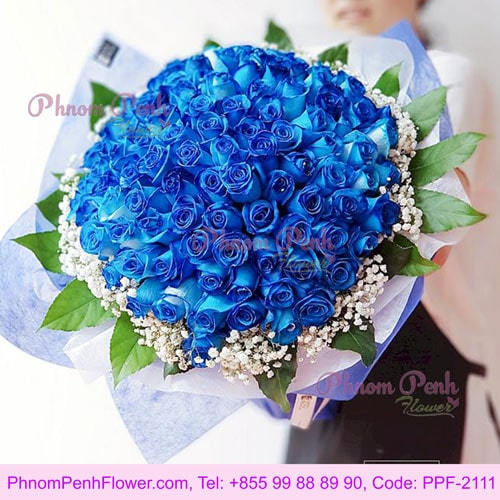 99 Stalks blue rose bouquet – PPF-2111