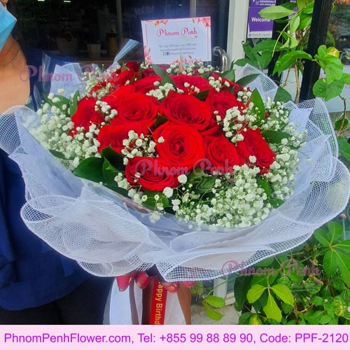 Beautiful 18 Red Roses bunch - PPF-2120
