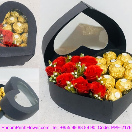 Gift heart shaped box - PPF-2176