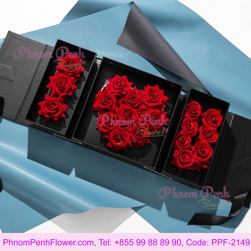I Love You Double layer gift box - PPF-2149