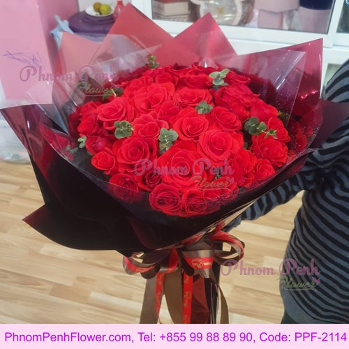 The love 36 red roses in bouquet - PPF-2114
