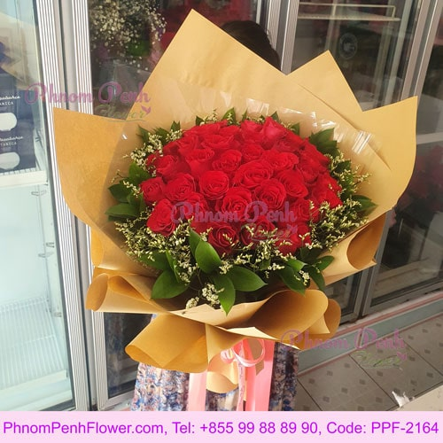 Loving 36 Red Roses Bouquet - PPF-2164