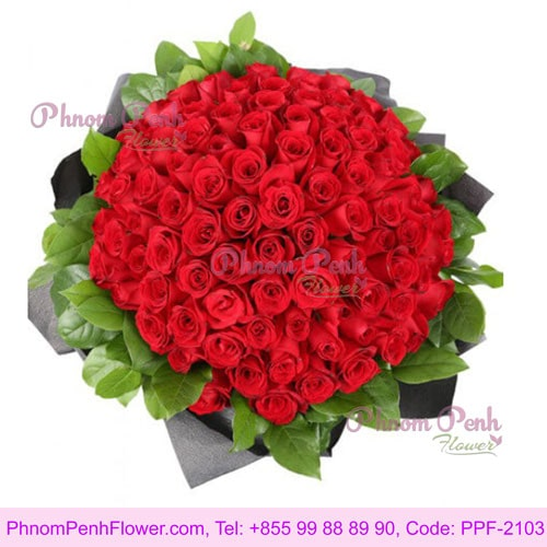 Lucky 99 Red rose bouquet – PPF-2103