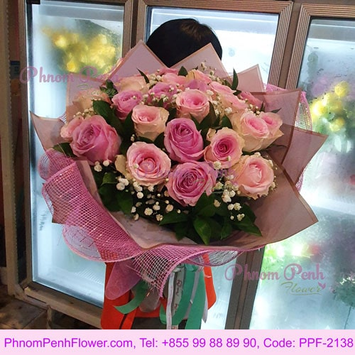 Perfectly Pink Rose Bouquet - PPF-2138