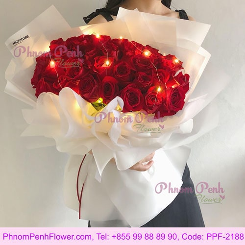 Pure love red roses bouquet - PPF-2188