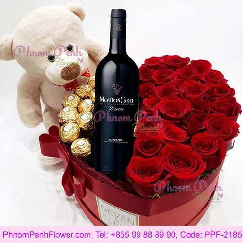 Roses Chocolate and Teddy box - PPF-2185