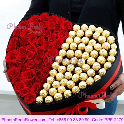 Sweet Love Flower box - PPF-2179