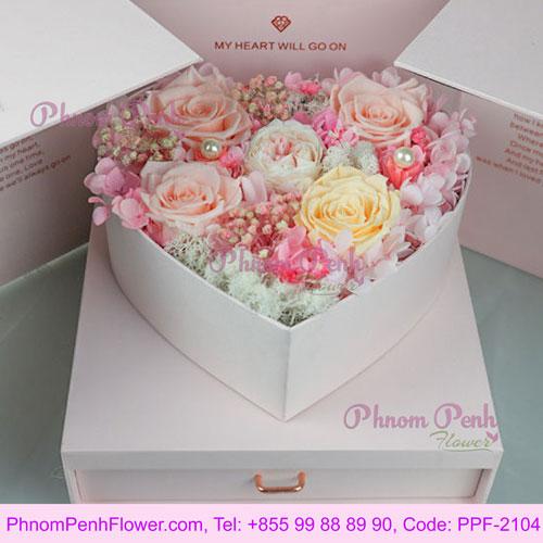 Valentine's Gift Preserved Roses - PPF-2104