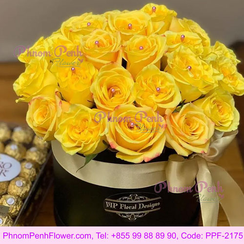 Yellow Roses And Ferrero Rocher - PPF-2175